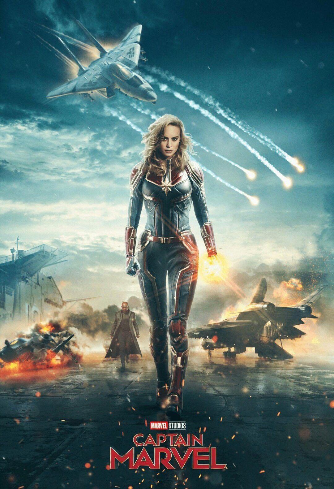 affiche captain marvel par marvel studios